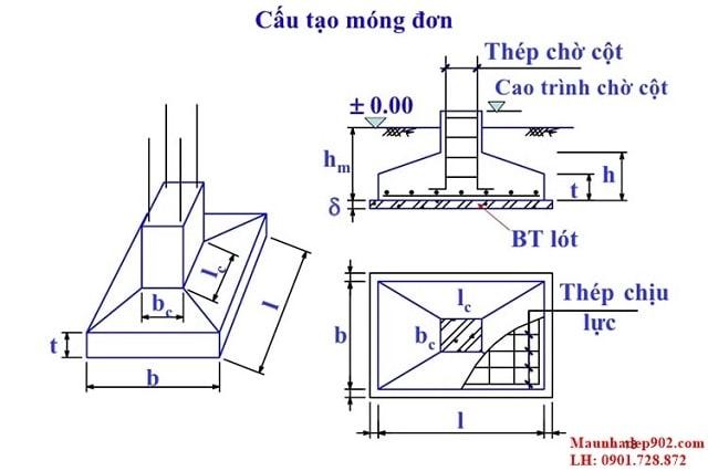 bố trí thép móng đơn (3)