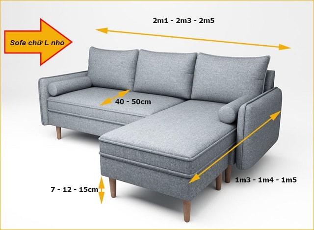 kích thước sofa chữ L (3)