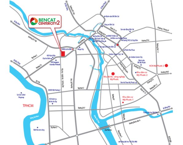 Vị trí dự án Bến Cát Center City 2