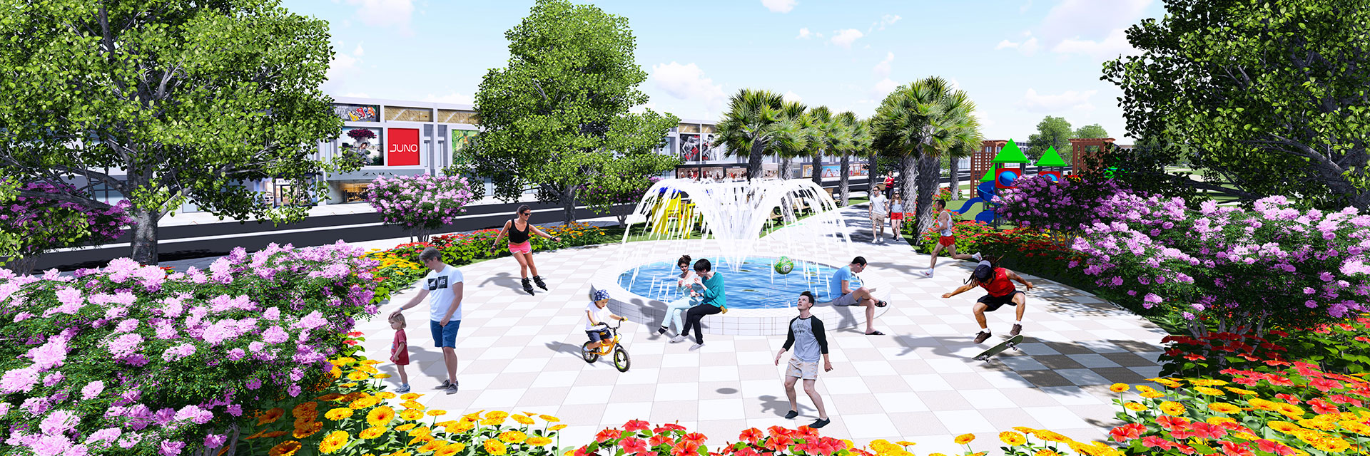 Phối cảnh công viên dự án Bến Cát Center City 2