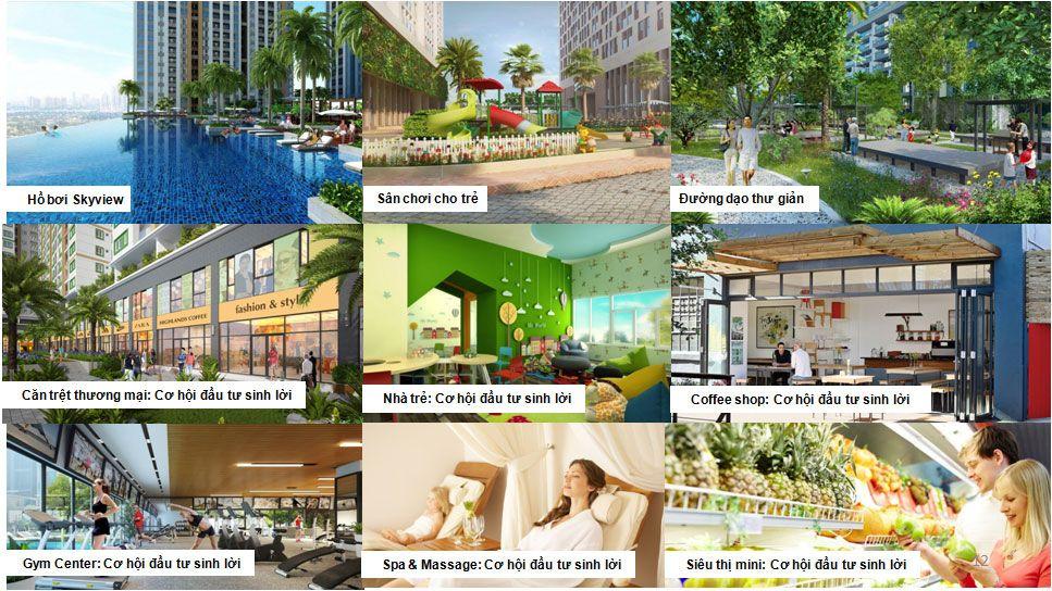 Tiện ích nội khu dự án Bến Cát Center City 2